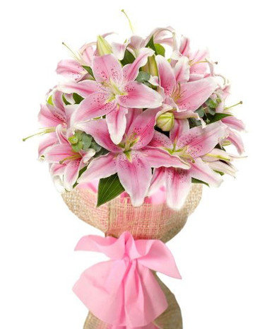 Pretty in Pink Stargazer Bouquet