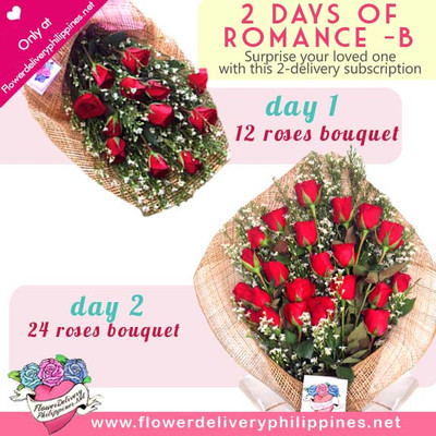 Two days of romance Roses Delivery Subscription