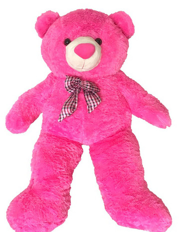Life Size 4'6 ft. Giant Pink Teddy Bear