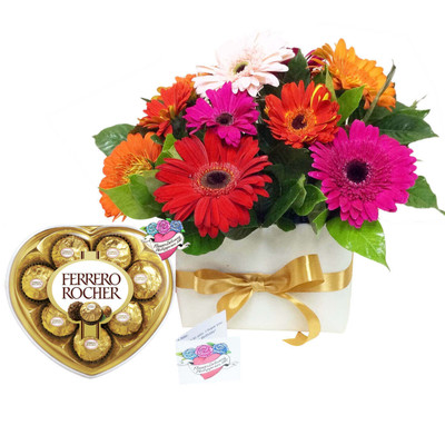 Boxed Assorted Daisies Love Package