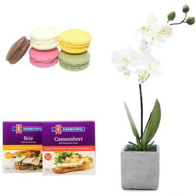Orchid, Macarons and Cheese Package