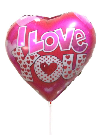 "16"" I LOVE YOU Foil Balloon Pink"