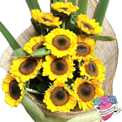 12 Sunflowers Grand Bouquet