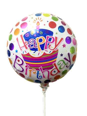 Happy Birthday Foil Balloon Polkadots (16 inches)