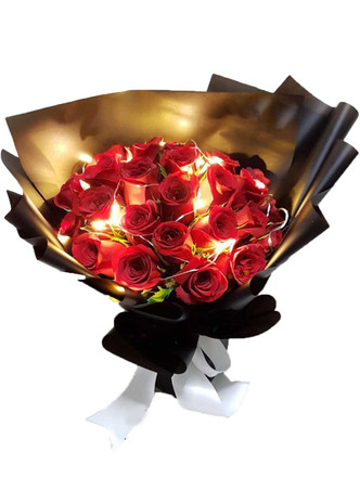 Twilight Valentine Roses Bouquet