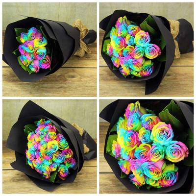 Rainbow Ecuadorian Roses
