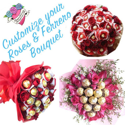 Customize Roses & Ferrero Bouquet