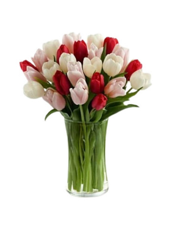 I Give You My Heart Tulips Bouquet