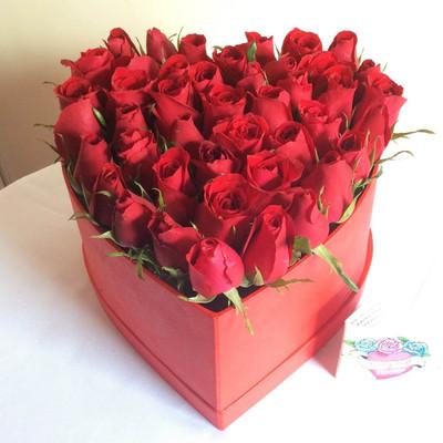 Roses Heart Box