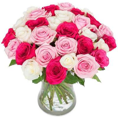 Pretty in Pink Ecuadorian Roses Bouquet