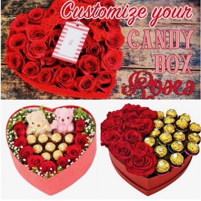Customize your Roses Candy Box