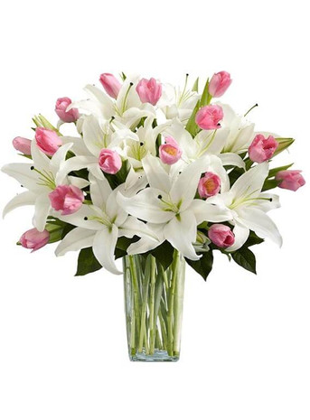 Pure Love Lilies & Tulips Bouquet