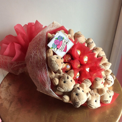 Ferrero Teddy Bears Bouquet Nationwide (Customizable)