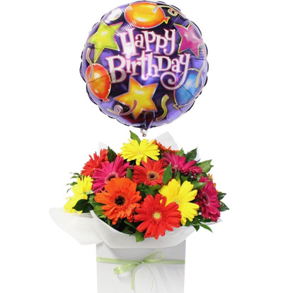 Birthday Gerbera Daisies Bouquet