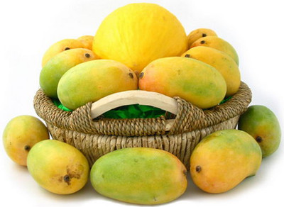 Mangoes & Melon Basket