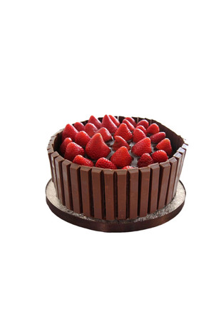 Strawberry Kit Kat Chocolate Cake Junior