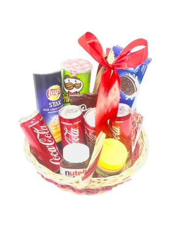Cola Snacks Gift Basket