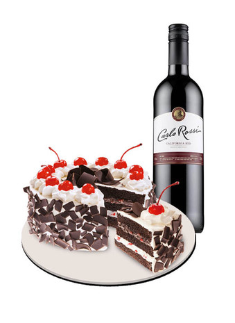 Black Forest Cake & Carlo Rossi