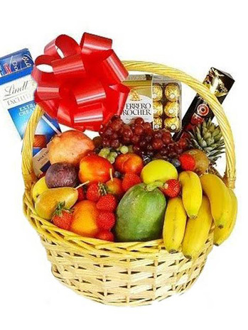 Deluxe Fruit & Chocolates Basket