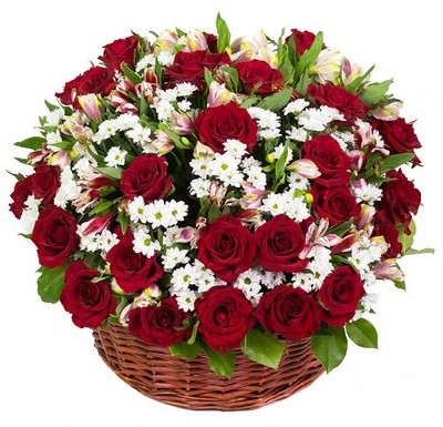 Customizable Basket of Roses