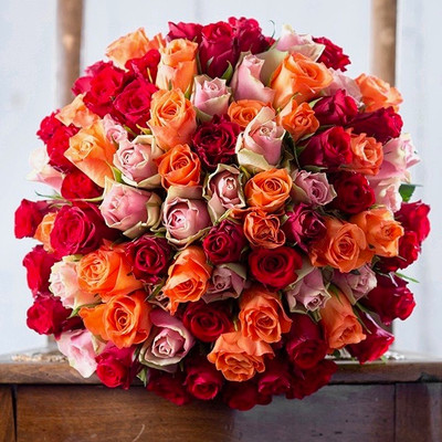 50 assorted Ecuadorian Roses Giant Bouquet