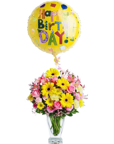 Birthday Bouquet & Balloon