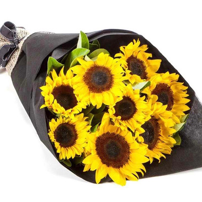 8 Sunflowers Black Label Bouquet