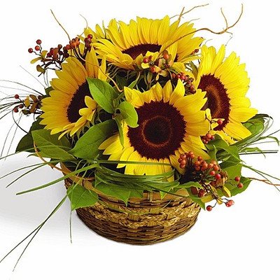 Sunflowers Basket