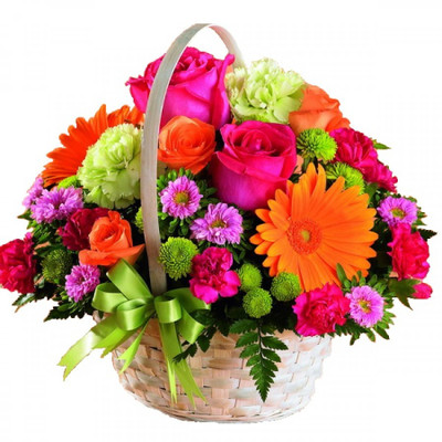 Assorted XL flower basket