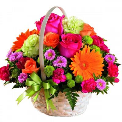 Assorted Flower Basket