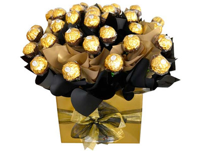 Gold & Black Custom Ferrero Box