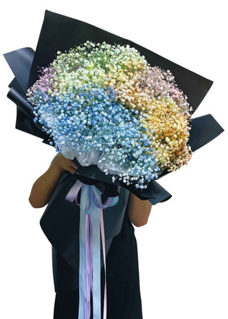 Unicorn Baby's Breath Black Label Giant Bouquet