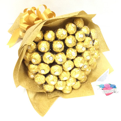 Personalized Gold Ferrero Bouquet