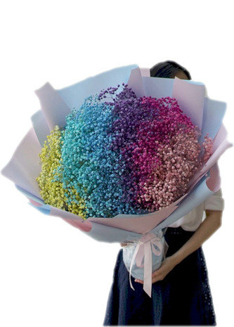 Rainbow Baby's Breath Giant Bouquet