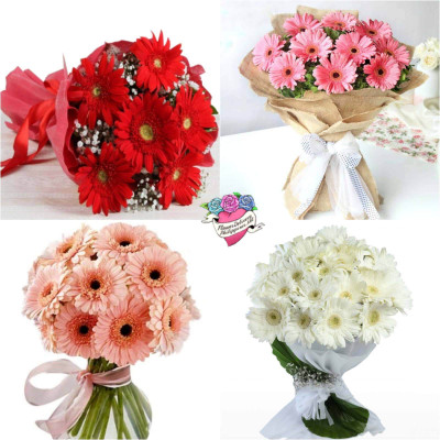 Customize Gerbera Daisies Bouquet