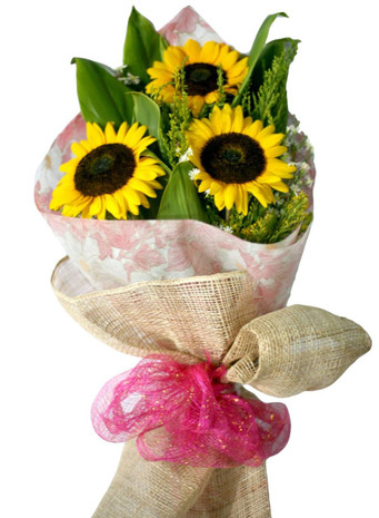 3 Sunflowers Bouquet