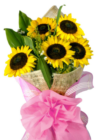 5 Sunflowers Bouquet