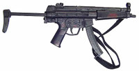 Subject 805: Containment Operator - Bloody MP-5 Machine Gun
