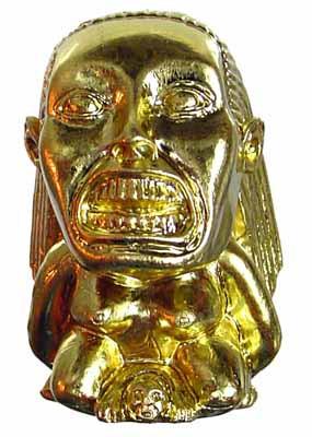 Indiana Jones: Indiana Jones - Fertility Idol (Plastic w/ Gold Chrome  Plating)