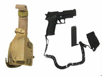 Navy SEAL Team 3 MK46 Gunner - Pistol w/ Holster