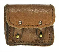 "French 1940 Infantryman - Medium Leather Pouch (Apx 1 1/4"" X 1"")"