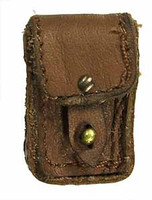 "French 1940 Infantryman - Small Leather Pouch (Apx 1"" X  1/2"")"
