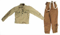 French 1940 Infantryman - Shirt and Pants with Suspenders