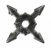 Ninja Accessory Set - Loose - Throwing Star C (Metal)