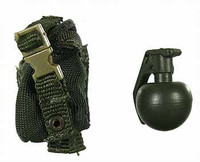 US Army Ranger Gunner In Afghanistan - Frag Grenade w/ Pouch