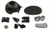 US Army Ranger Gunner In Afghanistan - Helmet w/ Accessories