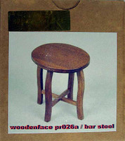 WoodenFace - Small Round Top Table (Bar Stool) (Original wood)