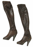 Dead Cell: Abigail Van Helsing - Long Brown Leather Boots (Includes Joints)