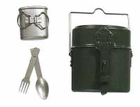 Imperial German Infantryman: Battle of Liege WWI - Metal Mess Kit w/ Silver