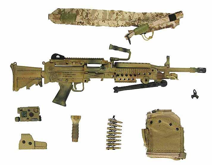 US Navy SEAL Team 8 - Machine Gun w/ Accessories